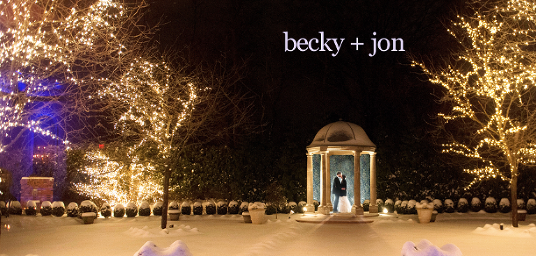 Becky Jon Snowed In At The Estate At Florentine